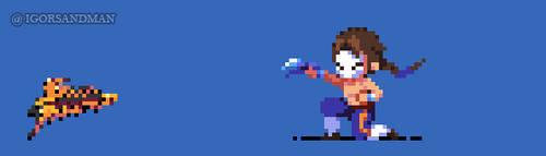 360/365 pixel art : Young Vega - Street Fighter by igorsandman