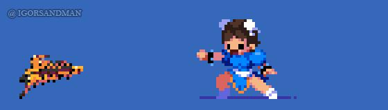 361/365 pixel art : Young Chun Li - Street Fighter by igorsandman
