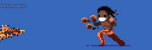 363/365 pixel art : Young Deejay - Street Fighter by igorsandman