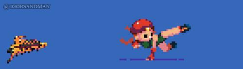 364/365 pixel art : Young Cammy - Street Fighter by igorsandman