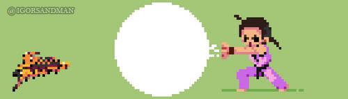 365/365 pixel art: Young Dan - Street Fighter by igorsandman