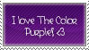 I Love Purple Stamp. by NaruButt