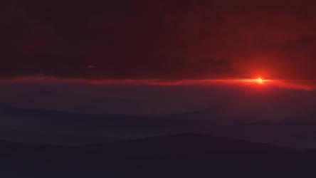 Sunset on P12K35C aka Vortex planet by Neuge