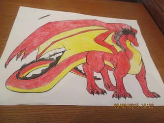 Male Dragon line art, Aneirin colors by Crimson-Dragon-King