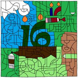 Happy 16th Birthday Deviant Art, Birthday Cake by Crimson-Dragon-King