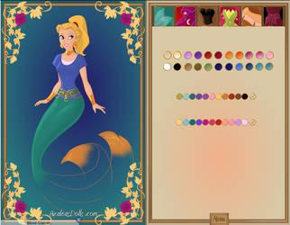 Rebecca the Genie's Mermaid form by Crimson-Dragon-King