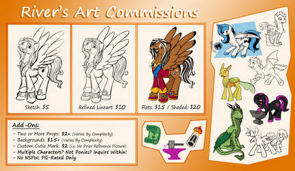 River Commission Sheet by Riverfox237