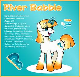 River Babble Ponysona Reference by Riverfox237