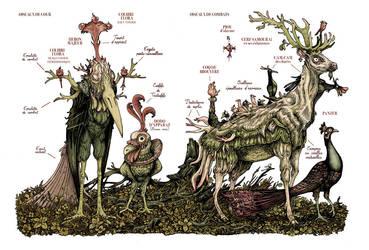 Bestiary Monsters by Richerand