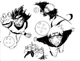 My anime heroes by lionheartslayerX