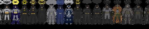 The Batman Live-Action Batsuit Evolution by efrajoey1