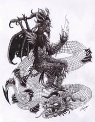 Baal and Leviathan by satanen