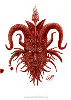 Pact with the Devil (Painted in real blood.) by satanen