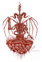 The Rise of the Horned King(Painted in real blood) by satanen