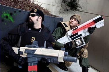 XCOM cosplay Dragoncon 2013 by Cobheran