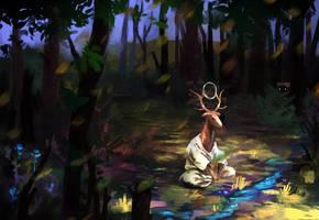 Forest meditation by Argl