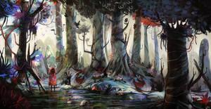 Strange forest by Argl