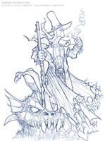 GunSlinger Spawn - boceto by Magolobo