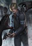 Resident evil 6 Leon by chrisnfy85