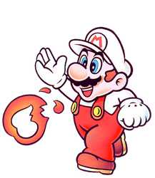 Fire Mario SML2: DX Artwork by KoopshiKingGeoshi