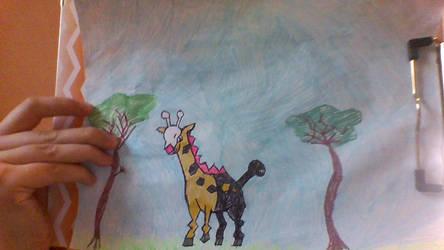 commission-girafarig by sylveonrhi