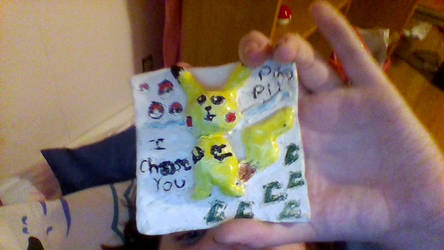 pikachu ceramics tile by sylveonrhi