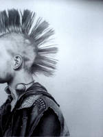 Huge Pencil Drawing of a Punk by Louisa911