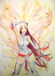 Psylocke by Kerong