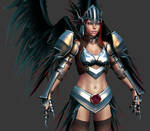 2010 Comicon: Valkyrie WIP 36 by HazardousArts