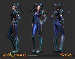Cyber Chun-Li Wip 19 Frontpage by HazardousArts