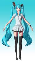 Hatsune Miku: Texture Wip 2 by HazardousArts