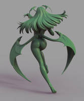 Morrigan Rear by HazardousArts