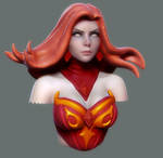 Dota 2 Bust: Lina by HazardousArts
