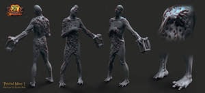 Path of Exile: The Awakening - Petrified Miner by HazardousArts
