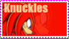 Knuckles the Echidna Stamp by catiexshadow