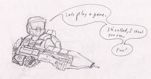 Master Chief and his Favorite Game by Natefurry