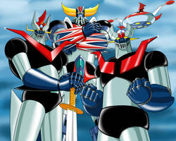 Grendizer and Mazingers by Zer013