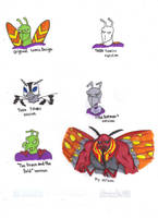 Different Styles of Killer Moth by KessieLou
