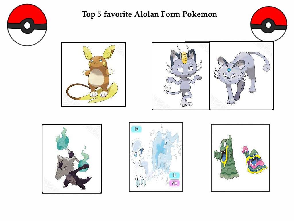 Top 5 Favorite Alolan Form Pokemon By Kessielou On Deviantart