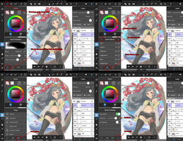 MediBang Paint Tablet iPad brush panel guide by medibangadmin