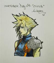 Inktober2017 Day #19 - 'Cloud' by AryYuna