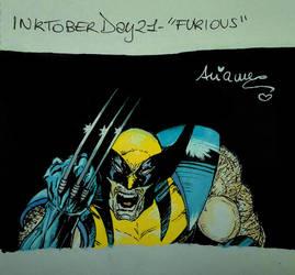 Inktober2017 Day #21 - 'Furious' by AryYuna