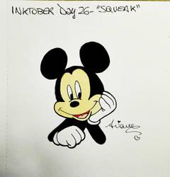 Inktober2017 Day #26 - 'Squeak' by AryYuna