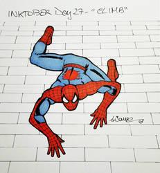 Inktober2017 Day #27 - 'Climb' by AryYuna