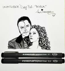 Inktober2017 Day #31 - 'Mask' by AryYuna