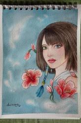 Watercolor Yuna by AryYuna