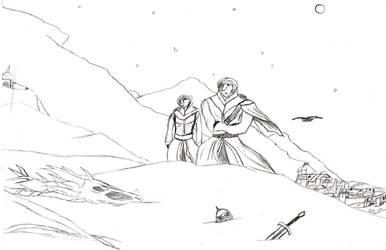 Fanart: Skyrim: Giftart: Eff this City! by Skythe-Soulblade