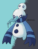 Snowile (fakemon) by Charenel
