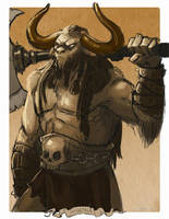 Monster May: Minotaur by BeanyCoffee