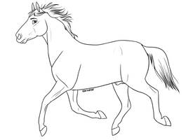 Free Horse Lineart by Vaynese